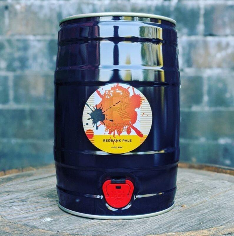 Red Bank Pale mini kegs we're selling from Runaway Brewery
