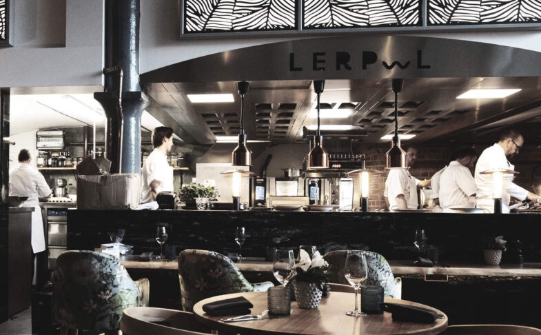The open kitchen at Lerpwl