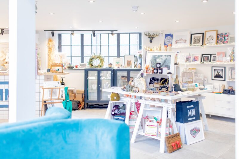 Inside the shop at MerseyMade