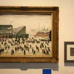 The Lowry painting on dsplay at Manchester's National Football Museum