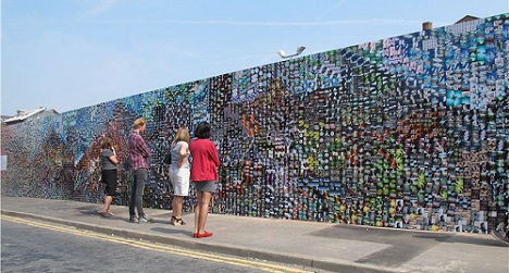 Manchester's Lomography Wall, courtesy CityCo