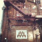 northern quarter fire escape space invader july 2012 by Creative Tourist
