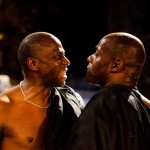 Theatre in Manchester: l-r Cyril Nri and Paterson Joseph in JULIUS CAESAR