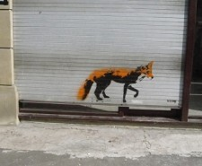 Street-art-fox-on-the-shutters-of-what-is-now-Slice-Northern-Quarter-Manchester